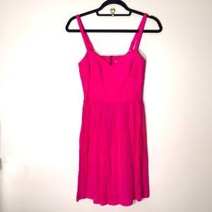 💗Amanda Uprichard silk magenta sun dress. …